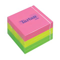 Notes-adezive-3M-Tartan-neon-76-x-76-mm-100-file