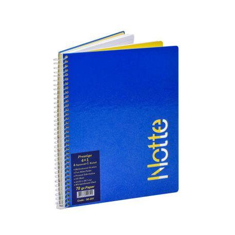 Registru-Notte-A4-cu-spira-125-file-4-diviziuni-matematica-si-1-diviziune-dictando
