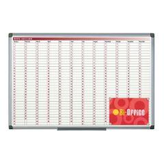 Planner-magnetic-anual-Bi-Silque-zile-luni-rama-din-aluminiu-60-x-90cm