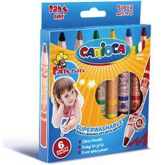 Set-creioane-cerate-Carioca-Baby-Jumbo-si-ascutitoare-6-bucati