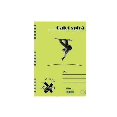 Caiet-Pigna-Basic-A5-cu-spira-50-file-dictando