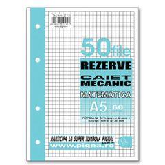 Rezerva-caiet-mecanic-Pigna-A5-50-file-matematica