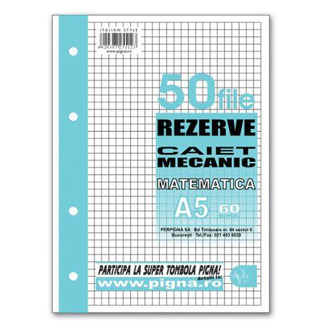 cumpărarea ieftină cel mai bun site web Regatul Unit Rezerva caiet mecanic Pigna A5 cu 4 inele, 50 file, matematica ...
