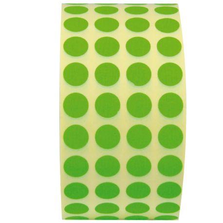 Etichete-autoadezive-rotunde-10-mm-verde-13480-bucati-rola