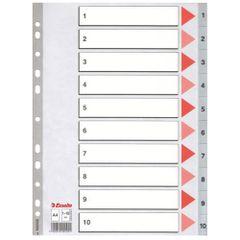 Index-plastic-Esselte-A4-1-10
