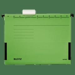 Dosar-suspendabil-Leitz-Alpha-cu-burduf-verde