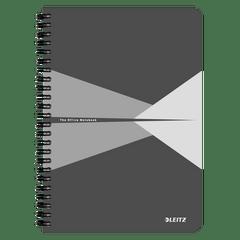 Caiet-de-birou-Leitz-Office-carton-A5-cu-spira-90-file-dictando-gri