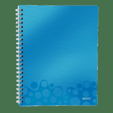 Caiet-de-birou-Leitz-WOW-Get-Organized-coperta-PP-A4-cu-spira-80-file-dictando-albastru-metalizat
