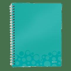 Caiet-de-birou-Leitz-WOW-Get-Organized-coperta-PP-A4-cu-spira-80-file-matematica-turcoaz-metalizat