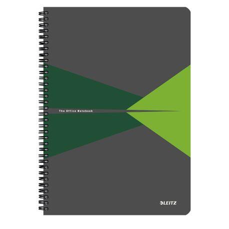 Caiet-de-birou-Leitz-Office-A4-coperta-carton-cu-spira-90-file-matematica-verde