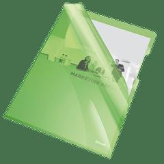 Mapa-plastic-Esselte-cristal-A4-150-microni-verde-25-bucati-set