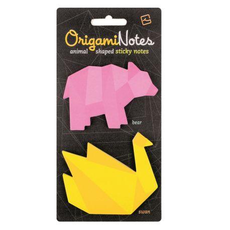 Notes-adeziv-Origami-urs-si-lebada