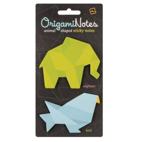 Notes-adeziv-Origami-elefant-si-pasare