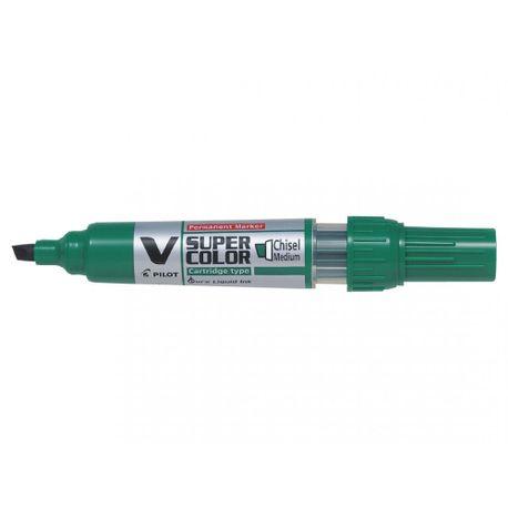 Marker-permanent-Pilot-VSuper-Color-varf-tesit-6-mm-verde