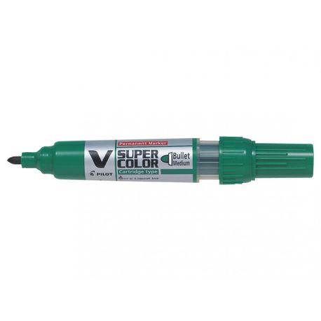 Marker-permanent-Pilot-VSuper-Color-varf-rotund-6-mm-verde