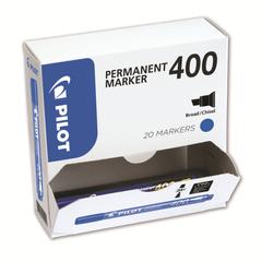 Marker-permanent-Pilot-400-varf-tesit-albastru-20-bucati-set