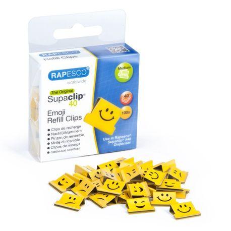 Clipsuri-metalice-Rapesco-Supaclip-40-coli-smile-100-bucati--cutie