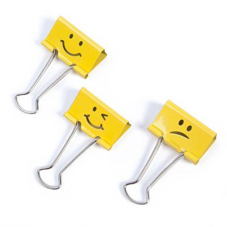 Clipsuri-metalice-Rapesco-Emoji-19-mm-galben-20-bucati-set