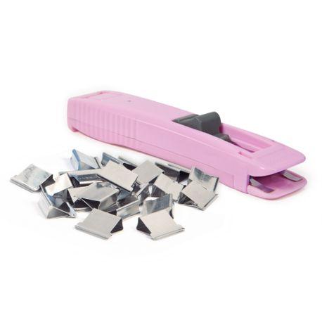 Dispenser-clipsuri-Rapesco-40-coli-roz-fondant-plus-25-clipsuri