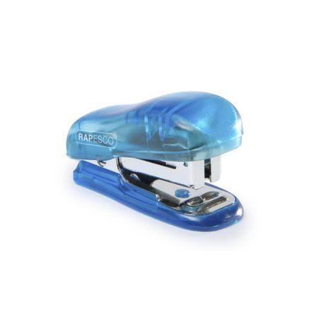 Capsator-plastic-Rapesco-Bug-Mini-12-coli-albastru