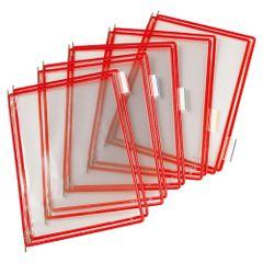 Folie-pentru-sistem-de-prezentare-Tarifold-A4-rosu-10-bucati-set