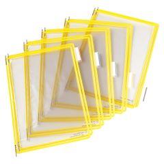 Folie-pentru-sistem-de-prezentare-Tarifold-A4-galben-10-bucati-set