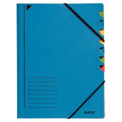Mapa-carton-Leitz-Fashion-cu-7-separatoare-albastru