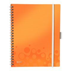Caiet-de-birou-Leitz-WOW-Be-Mobile--A4-coperta-PP-cu-spira-dictando-portocaliu-metalizat