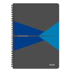 Caiet-de-birou-Leitz-Office-A4-coperta-carton-cu-spira-90-file-dictando-albastru