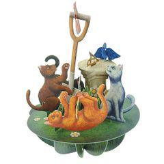 Felicitare-3D-Pirouettes-pisici