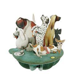 Felicitare-3D-Pirouettes-caini