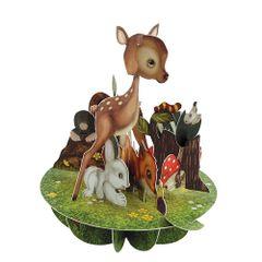 Felicitare-3D-Pirouettes-pui-animale