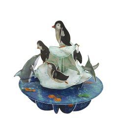 Felicitare-3D-Pirouettes-pinguini