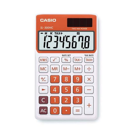 Calculator-de-birou-Casio-SL-300NC-8-digits-portocaliu