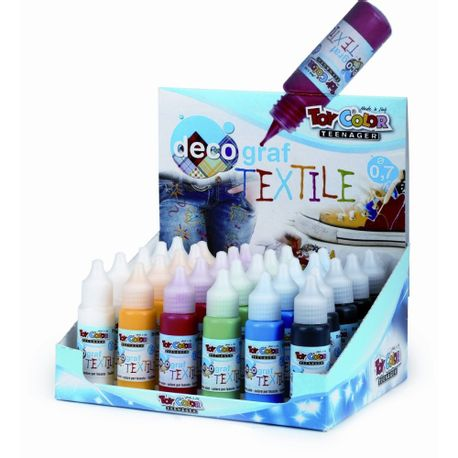 Set-tempera-textile-Toy-Color-decograf-25-ml-30-bucati