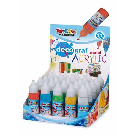 Set-tempera-metalizataToy-Color-decograf-25-ml-6-culori