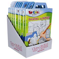 Set-plansa-Toy-Color-cu-model-pentru-pictura-dupa-numere-6-culori