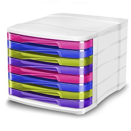 Suport-documente-CEP-Happy-cu-8-sertare-multicolor