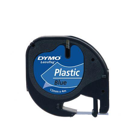 Banda-Dymo-Letratag-plastic-12-mm-x-4-m-albastru