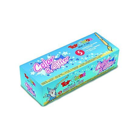 Set-tempera-si-sclipici-Toy-Color-5-culori
