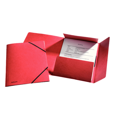 Mapa-carton-Esselte-Lux-inchidere-cu-elastic-rosu