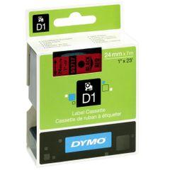 Banda-Dymo-D1-24-mm-x-7-m-negru-si-rosu