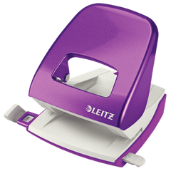 Perforator metalic Leitz WOW NeXXt Series 5008, 30 coli, mov metalizat
