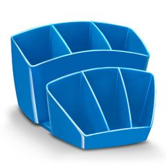 Suport-instrumente-de-scris-CEP-Gloss-cu-8-compartimente-albastru