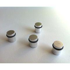 Magneti metalici rotunzi Naga, cu inel cauciucat, 4/set