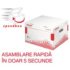 Container pentru arhivare si transport, Esselte Speedbox, cu capac L