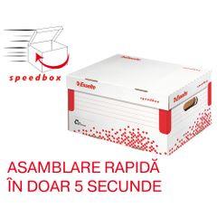 Container pentru arhivare si transport Esselte Speedbox, cu capac,