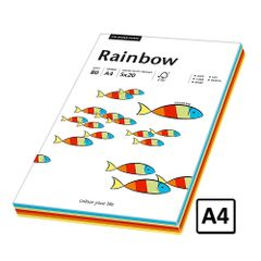Hartie A4 Rainbow, 80 g/mp, 100 coli/top, 5 culori intens
