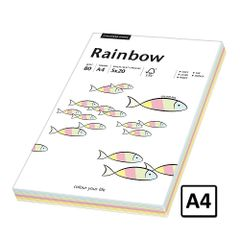 Hartie A4 Rainbow, 80 g/mp, 100 coli/top, 5 culori pastel