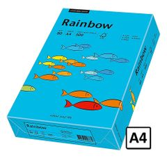 Hartie A4 Rainbow, 80 g/mp, 500 coli/top, albastru intens